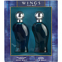 Wings Eau De Toilette Spray 3.4 oz & Aftershave 3.4 oz for men by Giorgio Beverly Hills