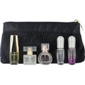 Estee Lauder Variety 5 Piece Mini Variety With Beautiful & Pleasures & Pleasures Intense & Pure White Linen & Sensous & Cosmetic Bag And All Are Eau De Parfum Spray .14 oz Minis for women by Estee Lauder