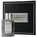 Bernini Platinum Eau De Toilette Spray 3.4 oz In A Leather Case (Limited Edition) for men by Bernini