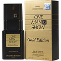One Man Show Gold Eau De Toilette Spray 3.3 oz for men by Jacques Bogart