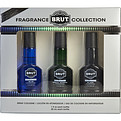 Brut Variety 3 Piece Variety With Titan, Azul & Special Reserve & All Are Cologne Spray 1 oz (Glass Bottles) for men by Faberge