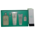 Ck One Edt Spray 6.7 oz & Body Lotion 6.7 oz & Body Wash 3.4 oz & Edt .5 oz Mini for unisex by Calvin Klein