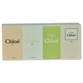Chloe Variety 4 Piece Womens Variety With Chloe New Eau De Parfum And Chloe New Edt And L'Eau De Chloe Edt And Chloe Love Eau Florale Edt And All Are .17 oz Minis    (W) for women by Chloe
