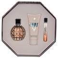 Jimmy Choo Eau De Parfum Spray 3.4 oz & Body Lotion 3.4 oz & Eau De Parfum Roll On .33 oz Mini for women by Jimmy Choo