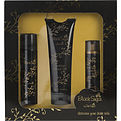 Black Sugar Edt Spray 3.3 oz & Shower Gel 8.4 oz & Hair Perfume 3.4 oz for women