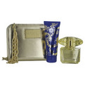 Versace Yellow Diamond Intense Eau De Parfum Spray 3 oz & Body Lotion 3.4 oz & Golden Clutch for women by Gianni Versace