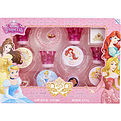 Disney Princess Eau De Toilette Spray 4 X 1 oz & Lip Gloss & Glitter Stickers & Bracelet & Ring for women by Disney