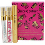 Juicy Couture Variety 3 Piece Womens Mini Variety With Juicy Couture & Viva La Juicy & Peace Love & Juicy Couture And Empty Holder And All Are Eau De Parfum Spray .25 oz Minis for Perempuan